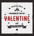 happy valentines day card love graphics banner vector image vector image
