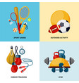 healthy lifestyle social media banners vector image