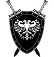 heraldic eagle and swords vector image vector image