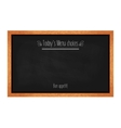 Horizontal menu chalkboard for cafes and vector image vector image