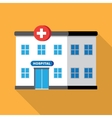 hospital building or clinic vector image vector image