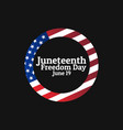 Juneteenth freedom day june 19 holiday concept
