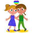 lesbian couple vector image vector image