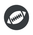 Monochrome round rugby icon vector image vector image
