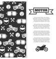 motorbike motorcycle motor banner background vector image vector image