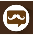 Mustache hipster vintage icon vector image