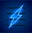 neon sign of lightning signboard vector image vector image