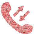 phone talking fabric textured icon vector image vector image