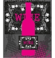 Pink wine bottle vector image vector image
