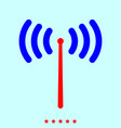 radio signal set it is color icon vector image vector image