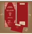 seal and send wedding invitation card red vector image vector image