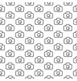 seamless pattern photocamera in line style vector image