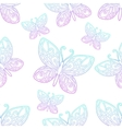 Seamless Texture Butterfly Lineart vector image vector image