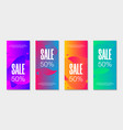 set 4 abstract modern graphic liquid banners vector image vector image