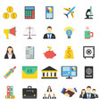 set of 25 business icon flat vector image vector image