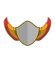 shield and wings logo heraldic emblem antique vector image vector image