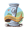 silver trophy golf tournament vector image vector image