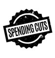 Spending cuts rubber stamp vector image
