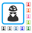 spotted spy framed icon vector image