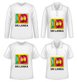 Sri Lanka shirt vector image vector image