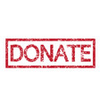 stamp word donate vector image vector image