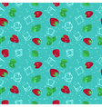 Strawberry mojito seamless pattern vector image vector image