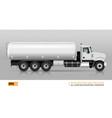tanker truck vector image vector image