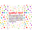 template for design with confetti vector image