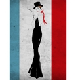 The girl in a black evening dress vector image vector image