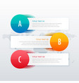 three steps clean infographic for business vector image vector image