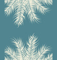 tropical design with vanilla palm leaves vector image vector image