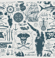 vintage seamless background on pirate theme vector image vector image