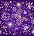 violet gradient violet seamless christmas patter vector image