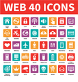 Web 40 Icons vector image