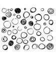 set scribble circles vector image