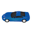 sports car blue vector image