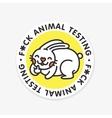Stop animal testing sticker vector image