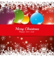 christmas card happy new year balls snowflake vector image