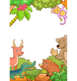 Frame with cute animals vector image