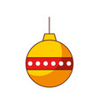 red and yellow ball christmas decoration ornament vector image
