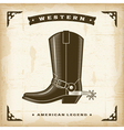 Vintage Western Cowboy Boot vector image
