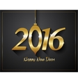 2016 Happy New Year golden letters Flyers covers vector image vector image