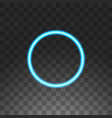 abstract circle blue neon frame vector image vector image