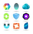 Abstract logo design set vector image vector image