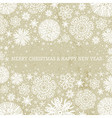 beige christmas background with snowflakes vector image vector image