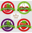 berry labels set vector image vector image