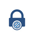 blocked lock office icon vector image
