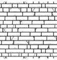brick wall sketch pattern vector image vector image