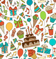 bright birthday boundless background vector image vector image