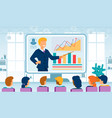 business coaching online flat concept vector image vector image